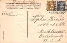 SWITZERLAND SCOTT #146 & 147 STAMPS NEW YEAR HOLIDAY TO USA POSTCARD 1909