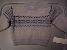 NWT PUDDLES 'n  BUBBLES BOUTIQUE SNOWFLAKE SWEATER 6 MO Free US Shipping