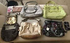 9 Piece Lot Assorted Coach Handbags