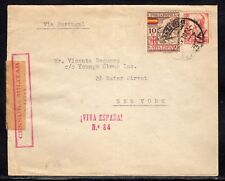 Spain Vigo Civil War Censored to US b235