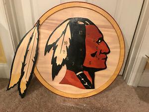 Custom Washington Redskins Wall Clock