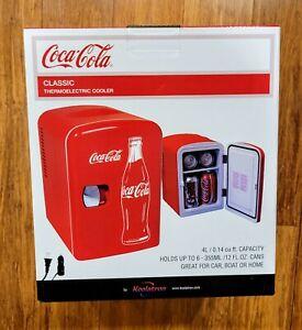 Coca-Cola 6 Can Personal Mini Fridge Cooler 120V AC 12V DC Home Car Boat NEW