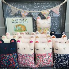 Liberty of London Tana Lawn fabric handmade cute Cuddle Bear New Baby Gift