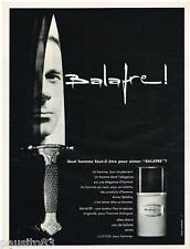 PUBLICITE ADVERTISING 105  1967  BALAFRE  de LANCOME eau de toilette homme