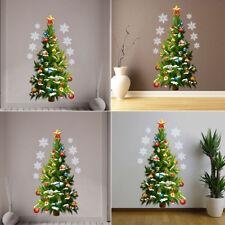 Green Xmas Christmas Tree Star Waterproof PVC Mural Decal Wall Sticker