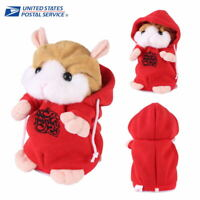 Cheeky Hamster Repeats What You Say Electronic Pet Talking Plush Toy Cute Red