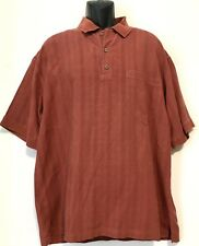 Tommy Bahama Men's Silk Polo Shirt, Red, Short Sleeve, Pocketed - L, EUC