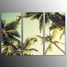 FRAMED Canvas Print Home Decor Palm Trees Wall Art Canvas Painting Pictures-3pcs