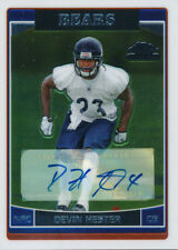 Devin Hester BEARS 2006 Topps Chrome #252 Signed Auto Rookie Card rC NM-MT