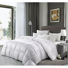 Luxury Goose Down Comforter Cal King Size 1200 TC Alternative White Bedding
