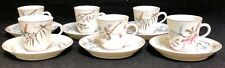 RARE Antique Tiffany & Co.China 6 Demitasse Cups & Saucers Insects & Leaves
