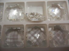 2 swarovski crystal checkerboard pendant(top drilled),28mm crystal #6863