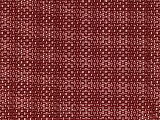 REMEMBER WHEN CIVIL WAR REPRODUCTION RED / CREAM COTTON SHIRTING SEWING FABRIC