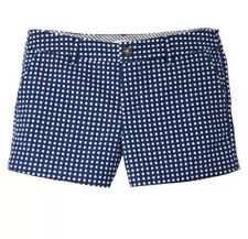 New Merona Retro Rockabilly MOD Blue W White Polka Dots Chino Shorts Sz 16