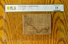 PA-164 PENNSYLVANIA OCTOBER 1, 1773 2s COLONIAL NOTE PCGS CHOICE FINE 15 BCS/612