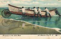 ATLANTIC CITY NJ – Bringing In the Lifeboat Life Boat - 1908