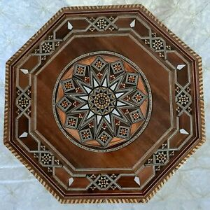 Mosaic Coffee Table Inlaid seashell Unique Home Décor. End Table. Small SIZe