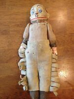 RARE! 1890s Palmer Cox Brownie Character Jointed Felt Wool Chaps Clay 11 1/2""