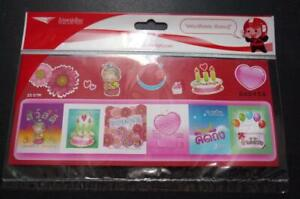 Thailand Post Love Cake Stickers Adhesive Stamp Sealed