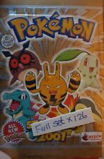 POKEMON 2001 FULL SET OF STICKERS X126