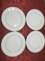 Lenox Cosmopolitan Collection Set of  (4) MAYWOOD Platinum trim Diner  Plates.