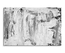 120x80cm Astratto_887 NERO BIANCO GRUNGE PITTURA TELA Sinus ART