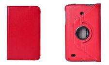 """FUNDA + CRISTAL TABLET LG G PAD 8"""" 8.0  V480 V490 GIRATORIA 360º COLOR ROJO"""