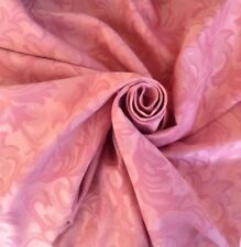 5 Metres Medallion Design Rose Pink Jacquard Curtain Material Upholstery Fabric