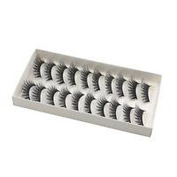 10 pares de pestanas postizas largas cruzadas Maquillaje Natural 3D falso p X4F7