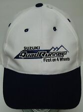 SUZUKI QUAD RUNNER QUADRUNNER 4-Wheeler ATV ADJUSTABLE HAT CAP 7 1/4 OR LESS
