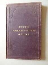 1882 / AMERICAN SETTLERS GUIDE TO HOMESTEADING / ADVERTISEMENTS