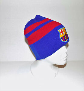 "FC BARCELONA  BEANIE HAT (GORRA BEANIE)      SPANISH ""LA LIGA""        (BLU/RED)"