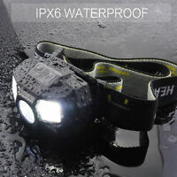 50000LM LED Headlamp Rechargeable Motion Sensor Head Lamp Headlight Flashlight
