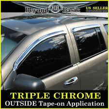 2004-2009 Dodge DURANGO 4PC Chrome Door Vent Window Visor Rain Guards