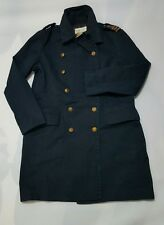 RALPH LAUREN DENIM & SUPPLY NAVY MILITARY  DOUBLE BREASTED COAT/JACKET-L