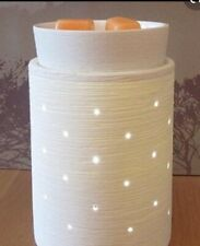Authentic NEW SCENTSY Etched Core Electric Warmer White! Wraps Change Look