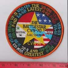 USS CARL VINSON CVN-70 WESTPAC 1994 CVW-14 PERSIAN GULF CRUISE GREATEST PATCH