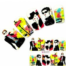 Tattoo Nail Art Model Anime Aufkleber Manga Japan Water Decall