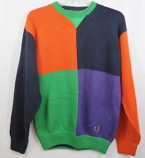 Vintage 90s Tommy Hilfiger Crest Colorblock Sweater Size L