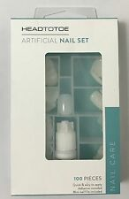 NEW HEADTOTOE ARTIFICIAL 100 PIECES NAIL SET WITH NAIL CARE BEST GIFT BOX
