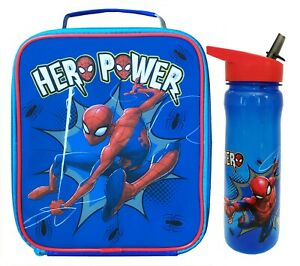 Spider-Man Hero Insulated Lunch Bag & 600ml PBA Free Bottle Set