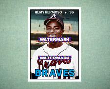 Remy Hermoso Atlanta Braves 1967 Style Custom Baseball Art Card