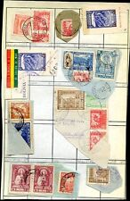 BOLIVIA 7 DIFFERENT FRAGMENTS w/BISECTED Postage VF