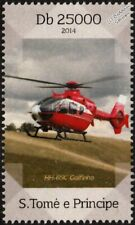EUROCOPTER HH-65/65C DOLPHIN Helicopter Aircraft Stamp (2014 St Thomas & Prince)