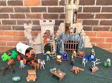 Playmobil Castle Tower 3665 Vintage Geobra Figures Horse Cowboys Cart Bundle Set