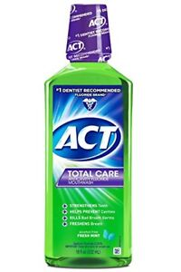 ACT Total Care Anticavity Rinse, Fresh Mint, 18 oz (3 Pack)