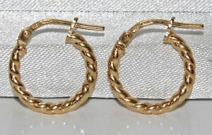 9CT YELLOW GOLD ON SILVER CHILDREN'S HOOP EARRINGS