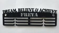 Personalised Thick Acrylic 3 Tier DREAM BELIEVE & ACHIEVE Medal Hanger/ Rack