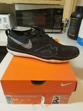 New Women's Nike Free Flyknit Focus Training Shoes 9.5 black rose gold