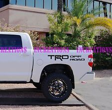 TRD Toyota Racing Development Truck Decals  Stickers Set of 2 Racing Stripes